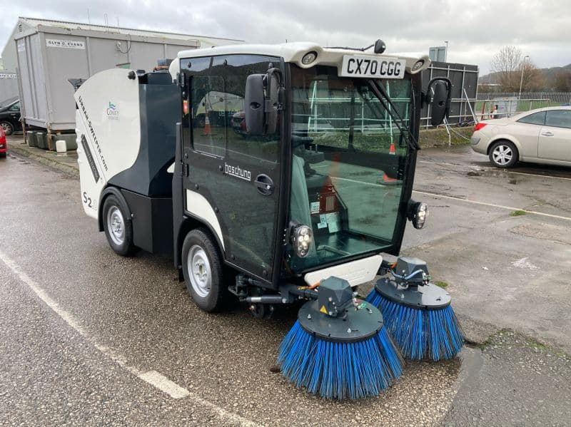 Conwy County Borough Council takes delivery of electric sweeper via TPPL's Framework